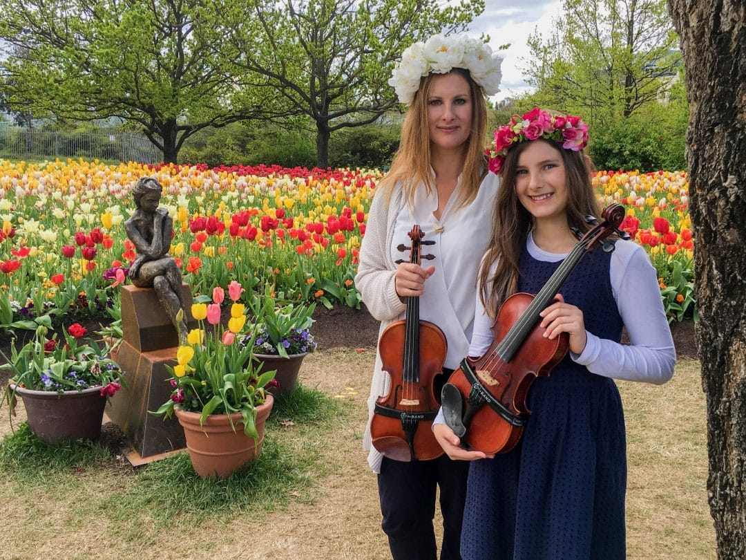 Sarah and Ashleigh at Floriade 2016